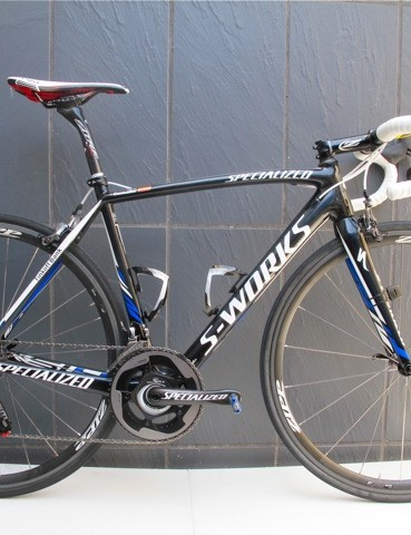 Contador's Specialized Tarmac SL4 is the only bike in the Vuelta equipped with SRAM Red WiFli rear derailleur