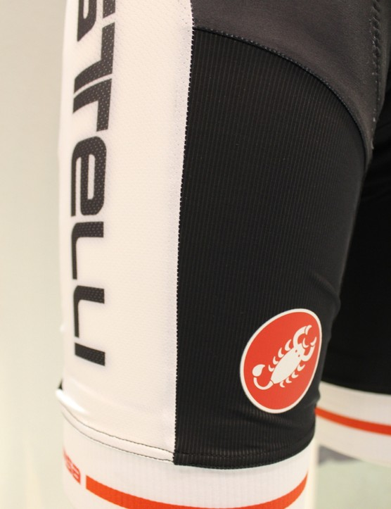 The Inferno bib short uses seven different types of fabric