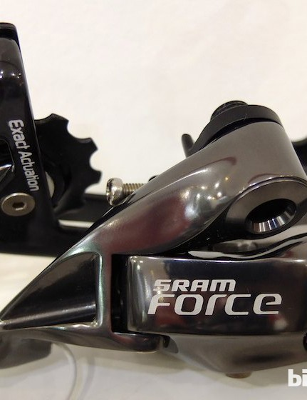SRAM Force will come with a mid-length WiFLi rear derailleur cage option