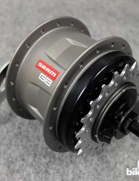 SRAM's new G8 8-speed hub gear