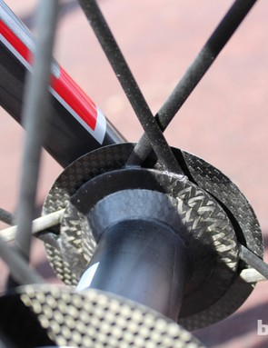 An inside look at the carbon spoke/hub interface