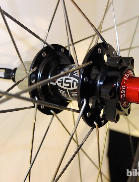 USE branded disc hub on the cyclocross wheelset