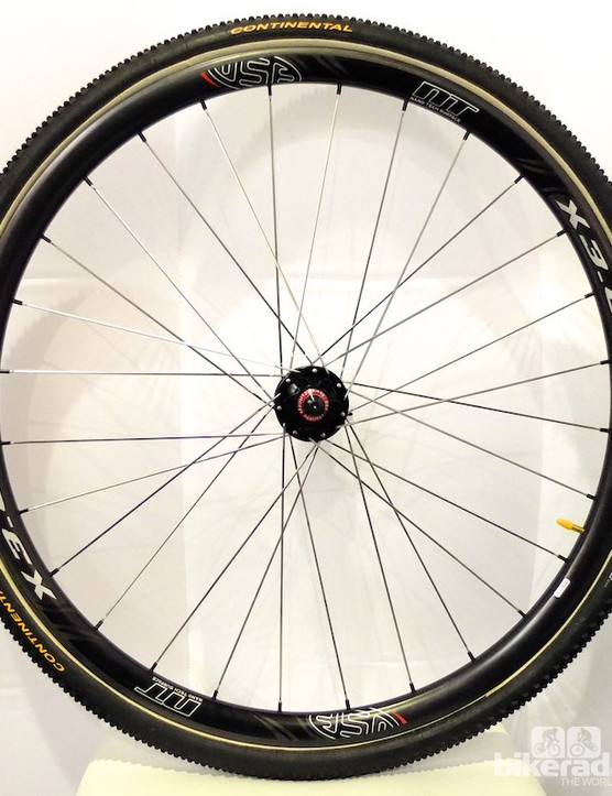 The X 3.0 30mm carbon tubular, disc-specific cyclocross wheels