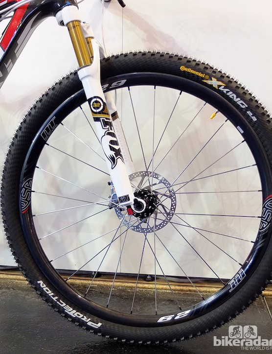 The 29in carbon clincher wheel