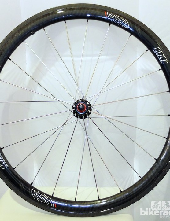 The 4.5 45mm deep carbon wheelset is available in clincher and tubular versions