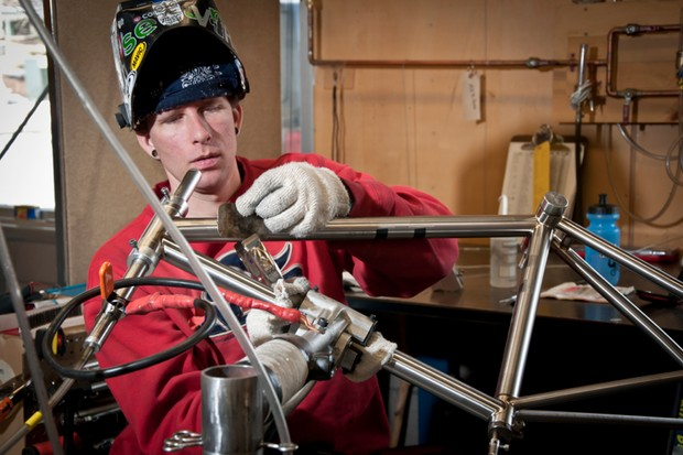 Bike riders who like titanium frames can thank the aerospace industry