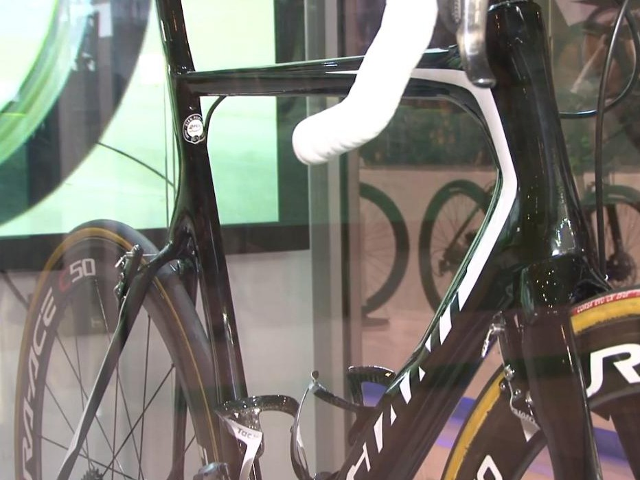 The Propel was hidden behind a Perspex screen at Eurobike but will receive a grand launch in early 2013