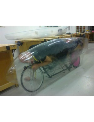 Obree's bike isn't quite finished, which means he will attempt to break the record at a location in Great Britain.
