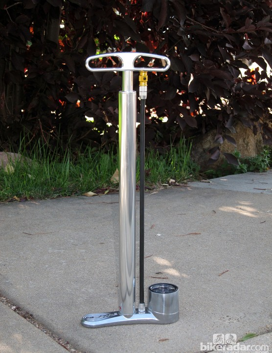 The Lezyne CNC Travel Drive floor pump is quite the luxury for riders who regularly fly with their bikes