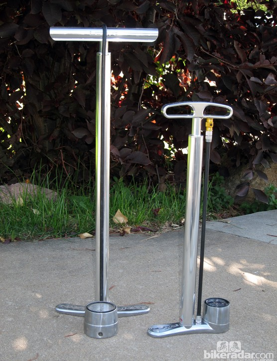 The CNC Travel Drive is substantially smaller than Lezyne's standard floor pumps