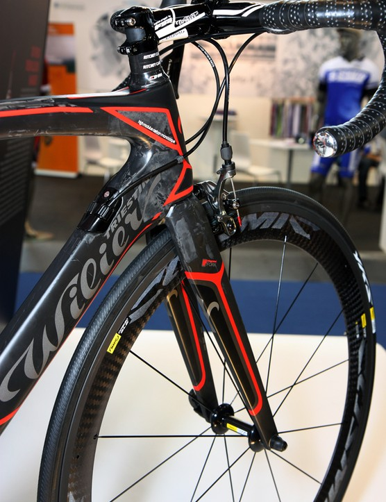 Wilier Triestina has given the new Cento 1 SR a tapered head tube, a burly new all-carbon fork and slick internal derailleur cable routing