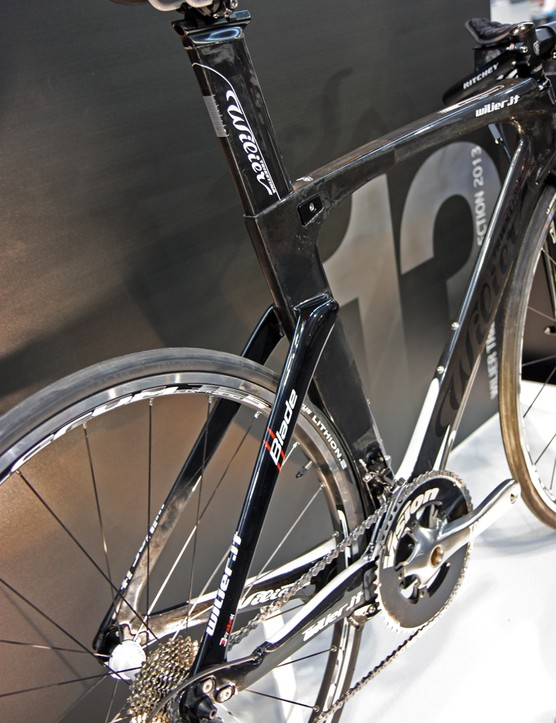 Brakes are hidden beneath the chain stays on Wilier Triestina's Blade