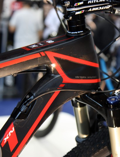 Wilier Triestina includes a tapered head tube for the new 101 29er carbon hardtail, plus an internal cabling system borrowed from the road-going Cento 1 SR