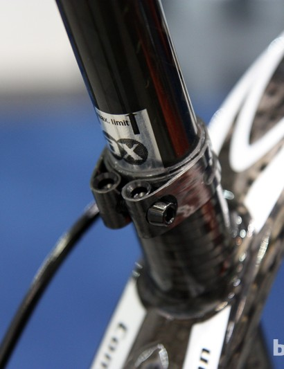 Topping off AX-Lightness's Vial complete bike is this tidy carbon fiber seatpost clamp