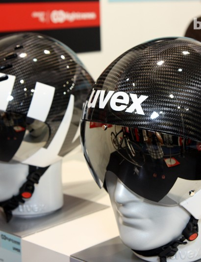AX-Lightness is now involved in a joint project with Uvex to create carbon fiber versions of the latter's time trial and track helmets