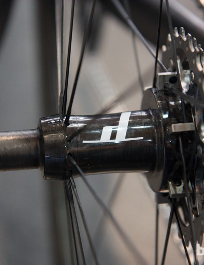The ultralight Dash carbon fiber-and-titanium hubs aren't made in Germany - they're produced in Boulder, Colorado