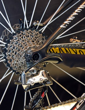 Canyon is looking forward with the thru-axle rear dropouts on its new Grand Canyon CF SLX 29 carbon 29er hardtail