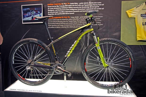 Canyon previewed its Grand Canyon CF SLX 29 carbon 29er hardtail at last year's Eurobike show but it's now an official product for 2013