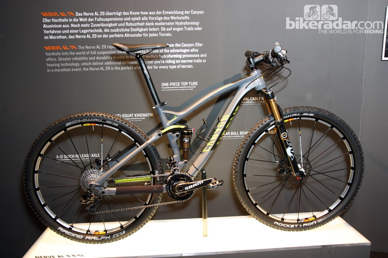 Also new for 2013 from Canyon is the Nerve AL 29 with 110mm of rear wheel travel and 120mm up front