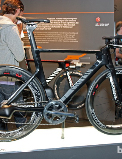 Canyon showed both TT and tri-oriented variants of its Speedmax CF at this year's Eurobike show