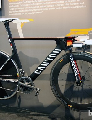 The Katusha team raced on Canyon's new Speedmax CF during this year's road season but not everyone can manage a position this extreme