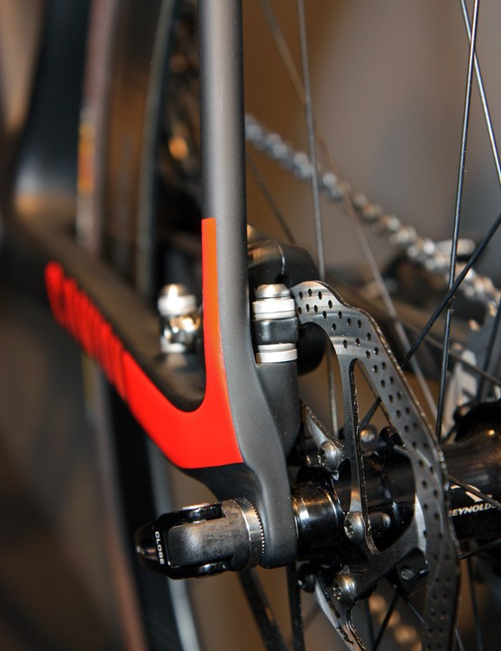 Canyon tucks the rear brake inside the triangle of its Ultimate CF SLX Disc road bike concept