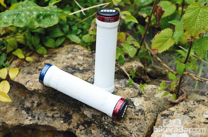 ODI Ruffian Patriot grips have a red, white and blue colour scheme