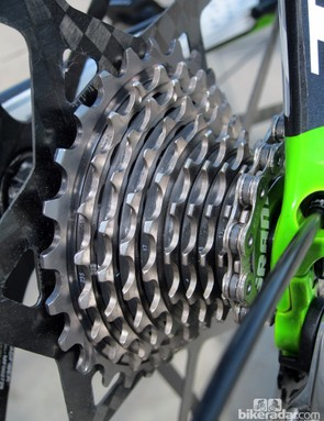 Shift quality is quick and precise on the new SRAM Red cassette. It's also superlight but yet still durable on account of the nearly all-steel construction