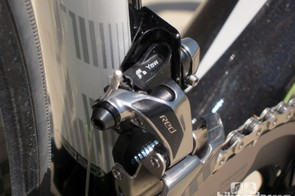 Aluminum and titanium hardware are littered throughout SRAM's latest Red flagship road group