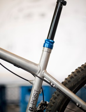 Bionicon's B-Post dropper seatpost is integrated into the frame