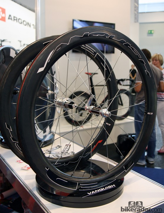 New for 2013 from HED is the company's first all-carbon clincher road wheelset. Claimed weight on the new Vanquish is 1,543g