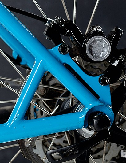 Additional spar between seatstay and chainstay braces against braking forces