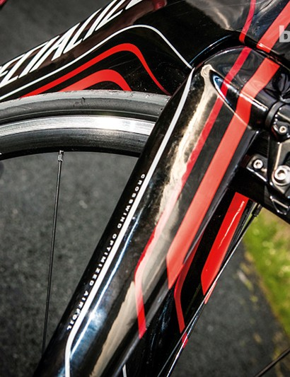 Integrated U-brakes are aero sculpted but soft in feel and hard to find upgrades for