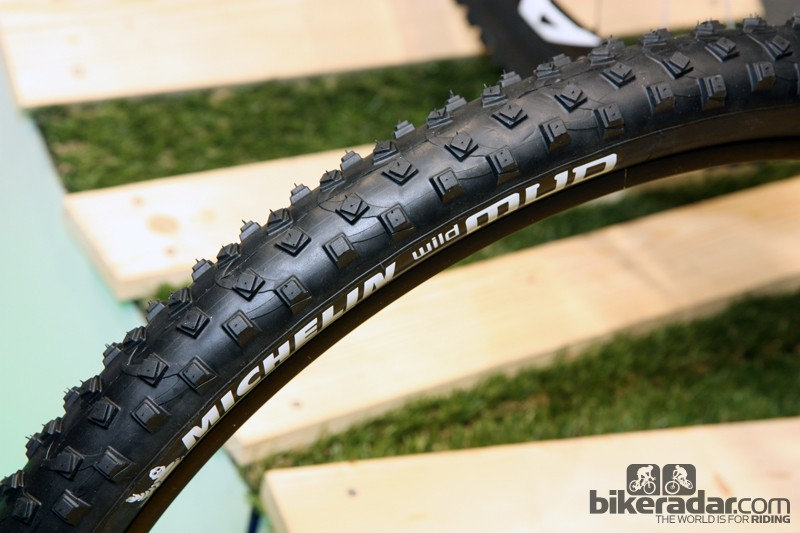 Michelin's new Wild Mud tire is purpose built for the sloppy stuff, including a narrow casing, very soft rubber, an open tread pattern and uniquely twisted knobs that supposedly self-clean as you ride