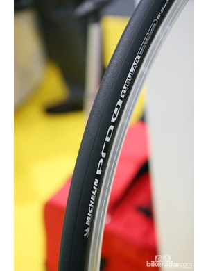 US roadies will finally be able to purchase Michelin's road tubulars, which have previously only been available in Europe. The cotton and aramid casing will be sold in both 23mm and 25mm widths