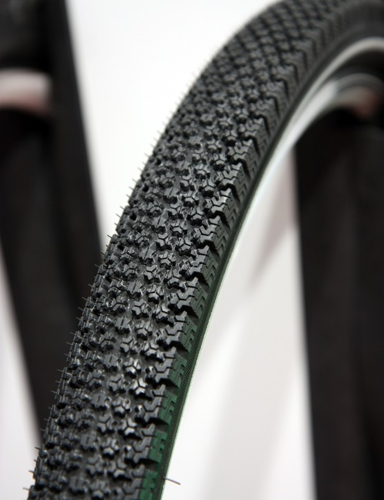 The wild-looking Michelin StarGrip urban tire is designed specifically for low-traction conditions like snow, rain and slush. The very soft rubber compound and highly comfortable tread supposedly finds grip that other tires won't, but as you'd expect it won't be the fastest tire around