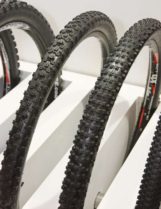 Kenda will offer several 27.5in tire options for 2013, including the popular Karma (left) and Slant Six (right) treads shown here, plus the Nevegal and new Honey Badger