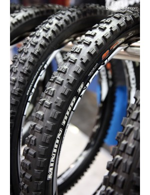 Maxxis says the new Minion DHR II is now better suited for both front and rear applications than its predecessor, partially due to the stiffer side knobs that should bolster cornering
