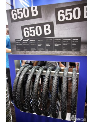 Schwalbe will offer five different tread designs and eight sizes for the burgeoning 650b mountain bike movement
