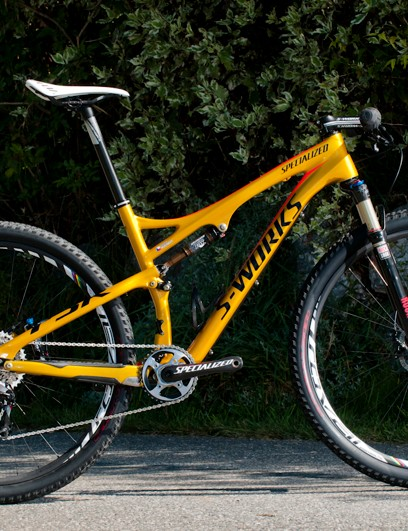 Jaroslav Kulhavy's custom gold Specialized S-Works Epic 29