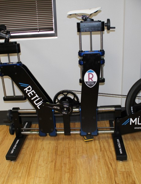 The Müve Fit Bike is the low-tech (but quite functional) part of Retül's offerings; the 3D data capture is the high-tech bit