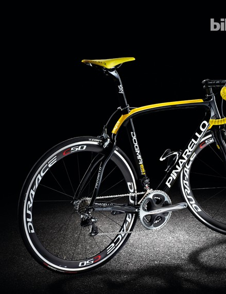 Opening the Superbike supplement is the Pinarello Dogma 65.1 Think2, a bike that Bradley Wiggins rode to Tour de France glory this summer