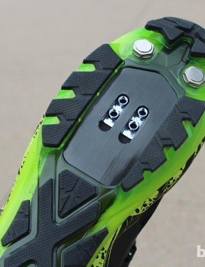 A tuned carbon shank runs the length of the shoe, with varying widths and thicknesses