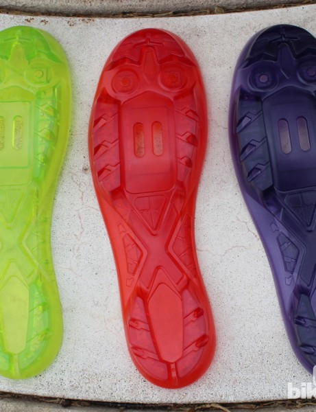 Each of the five models (3 men's, 2 women's) gets its own sole color