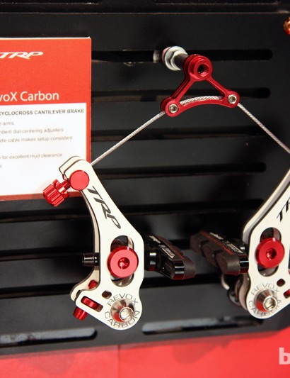 The new TRP RevoX Carbon looks to be the company's top 'cross cantilever for 2013 with the power of a lower-profile setup but claimed weights closer to the more spartan EuroX range