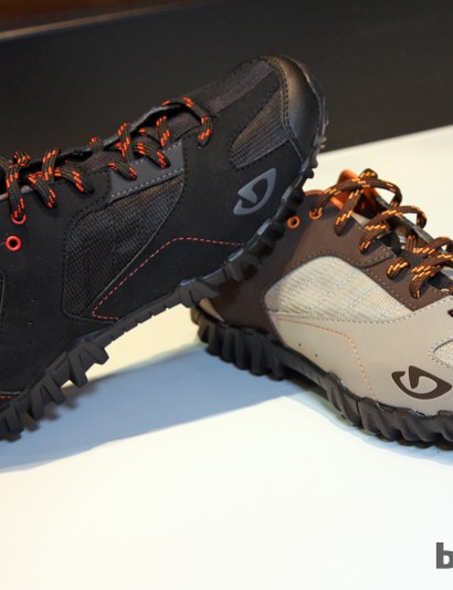 The new Giro Rumble is aiimed at more casual riders looking for a walkable shoe (for street or trail) that can be used with either two-bolt pedal systems or even clips and straps