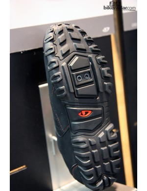 The sole on the new Giro Rumble and Petra shoes has a generous tread for secure walking on a wide range of surfaces