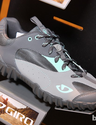 The new women's-specific Petra combines a casual looking upper with an aggressively knobbed, SPD-compatible outer sole