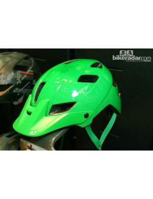 One of the latest colors for Giro's fuller-coverage Feature mountain bike helmet is 'Kelly Green'