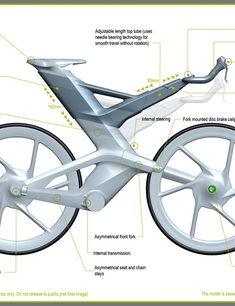 A breakdown of the features on Cannondale's CERV concept bike